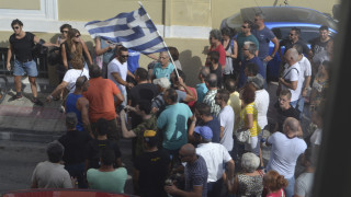 Φωτογραφία ντοκουμέντο από την επίθεση στη Μόρια