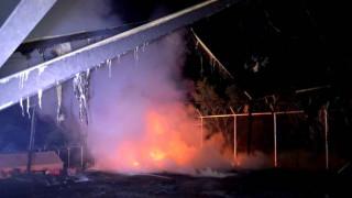 Μεγάλη φωτιά στη Μόρια – Εκκενώθηκε το κέντρο κράτησης μεταναστών (vid)