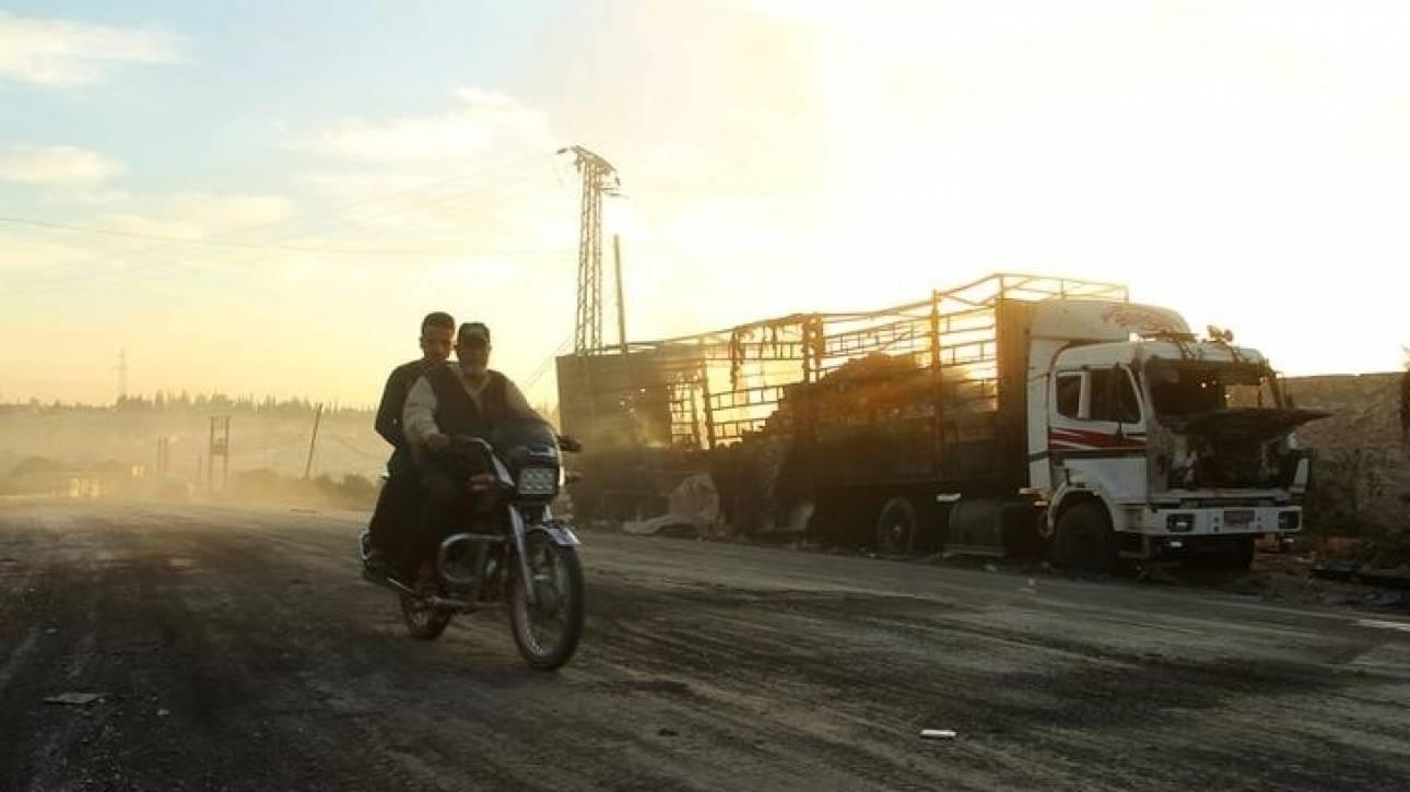 Φορτηγό με βαρύ οπλισμό συνόδευε την αυτοκινητοπομπή στο Χαλέπι, αποκαλύπτει η Μόσχα