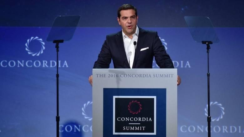 Τσίπρας στο Concordia Summit: Η ώρα για ελάφρυνση του χρέους είναι τώρα