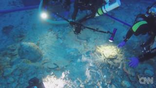 Αρχαίος σκελετός στο Ναυάγιο των Αντικυθήρων