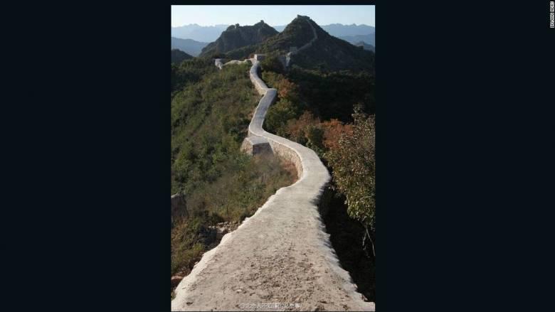 Μεγάλη καταστροφή: Το Σινικό Τείχος καλύφθηκε από τσιμέντο