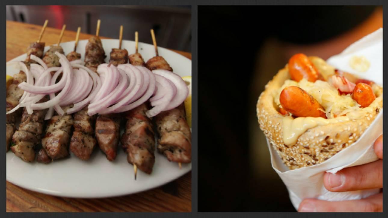 Εσύ ποιο προτιμάς; Το ελληνικό ή το ουγγρικό σουβλάκι;