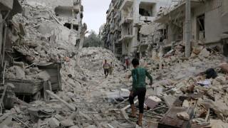 Χωρίς τρεχούμενο νερό οι άνθρωποι στο Χαλέπι