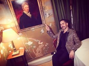 """""""Με τον Marc Jacobs σε ένα ήσυχο δωμάτιο κατά τη διάρκεια του Love party""""."""