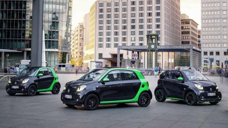 Όλα τα μοντέλα της Smart θα είναι διαθέσιμα και ως ηλεκτρικά