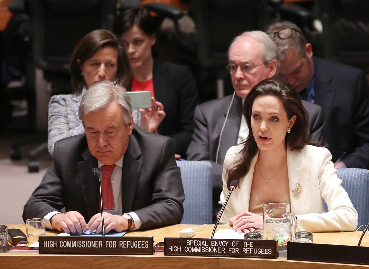Guterres Jolie UN Jemal Countess GettyImages 470940076
