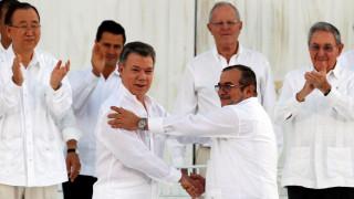 Κολομβία: Υπεγράφη η συμφωνία ειρήνης ανάμεσα στην κυβέρνηση και τις FARC