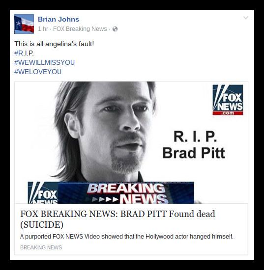 pitt hoax