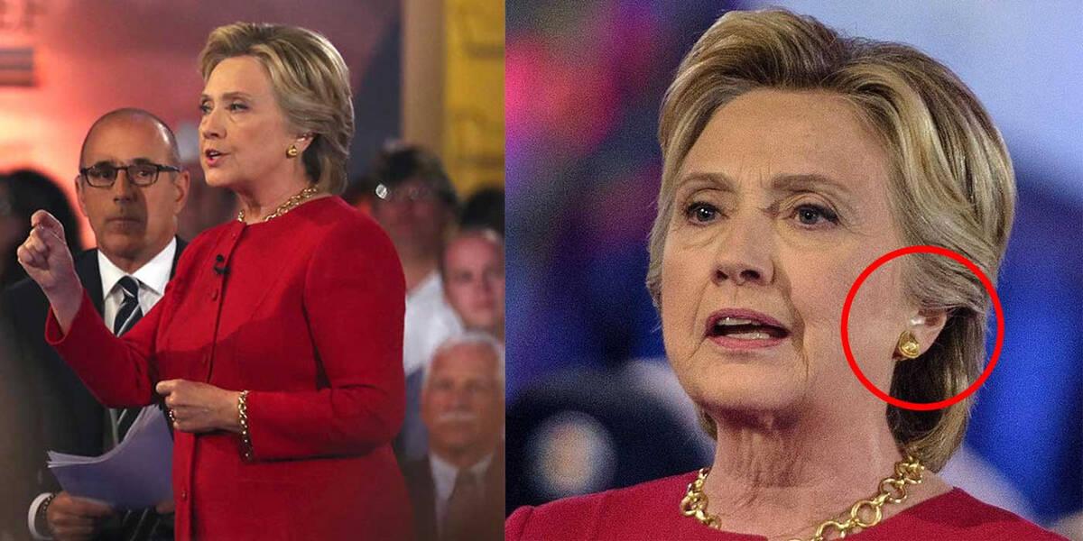POLL Did Hillary wear an earpiece during NBC s presidential forum