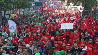 Μεγάλη διαδήλωση στις Βρυξέλλες για τα μέτρα λιτότητας