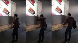 Γαλλία: Πελάτης μπαίνει έξαλλος σε κατάστημα της Apple και... τα σπάει όλα (vid)