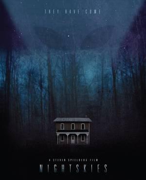"""Night Skies"" του Στίβεν Σπίλμπεργκ. Λίγο μετά τις ""Στενές επαφές τρίτου τύπου"" ο Σπίλμπεργκ προσανατολιζόταν σε μία ακόμη ταινία επιστημονικής φαντασίας και τρόμου, το Night Skies. Ο διάσημος σκηνοθέτης ήθελε να διηγηθεί την ιστορία μίας οικογένειας στο"