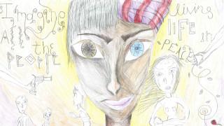 Η ζωγραφιά μιας 14χρονης από τα Γιαννιτσά στέλνει παγκόσμιο μήνυμα ειρήνης