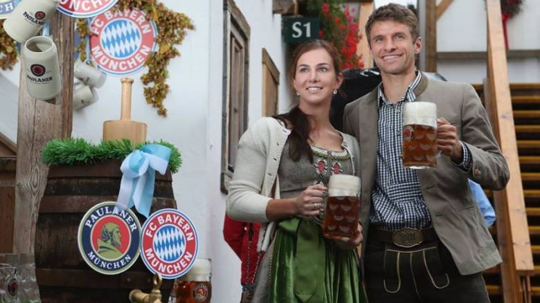 Με τους παίκτες της Μπάγερν ολοκληρώθηκε η γιορτή μπύρας