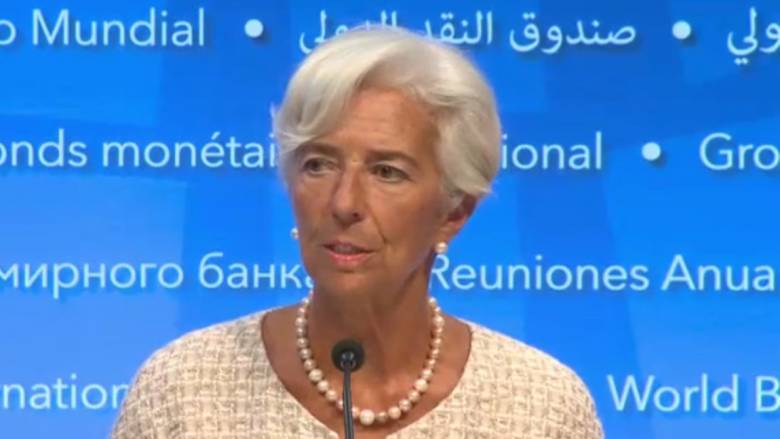Λαγκάρντ: Το ελληνικό χρέος δεν είναι σήμερα βιώσιμο