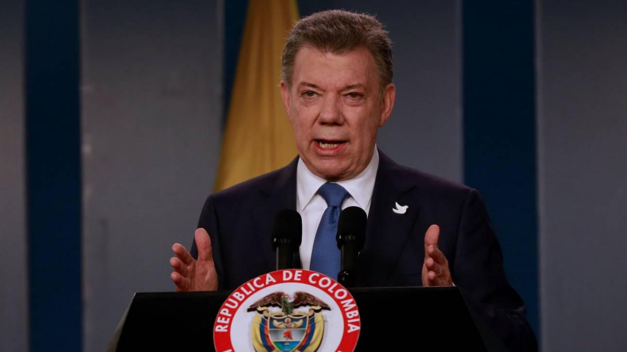 Στον πρόεδρο της Κολομβίας, Χουάν Μανουέλ Σάντος, το Νόμπελ Ειρήνης 2016