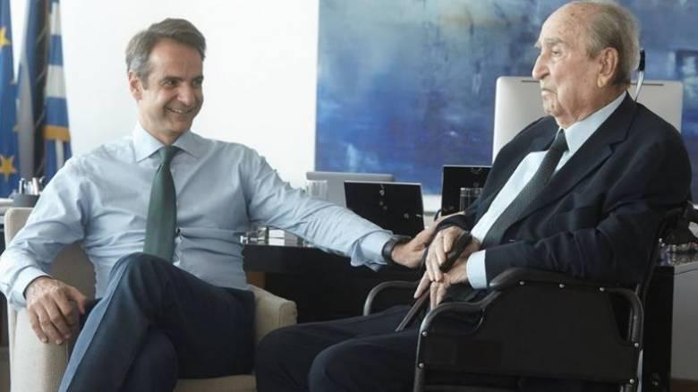 Στα νέα γραφεία της ΝΔ ο Κωνσταντίνος Μητσοτάκης (pics)