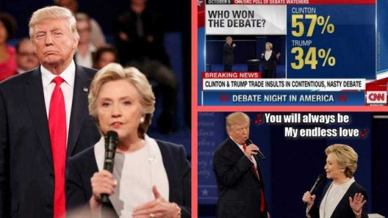 Εκλογές ΗΠΑ 2016: το «γλέντι» στο τουίτερ μετά το 2ο ντιμπέιτ