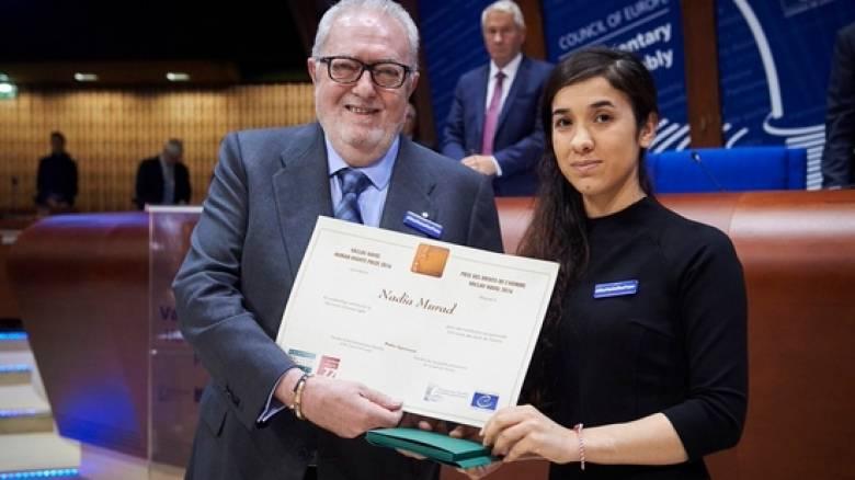 Στη νεαρή Γεζίντι Νάντια Μουράντ απονεμήθηκε το βραβείο Βάτλαβ Χάβελ