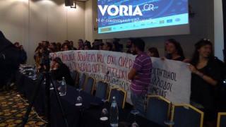 Θεσσαλονίκη: Εισβολή φοιτητών στη σύνοδο των πρυτάνεων (vid)