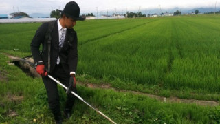Γιατί αυτός ο αγρότης πάει στο χωράφι με το κοστούμι; (pics & vid)