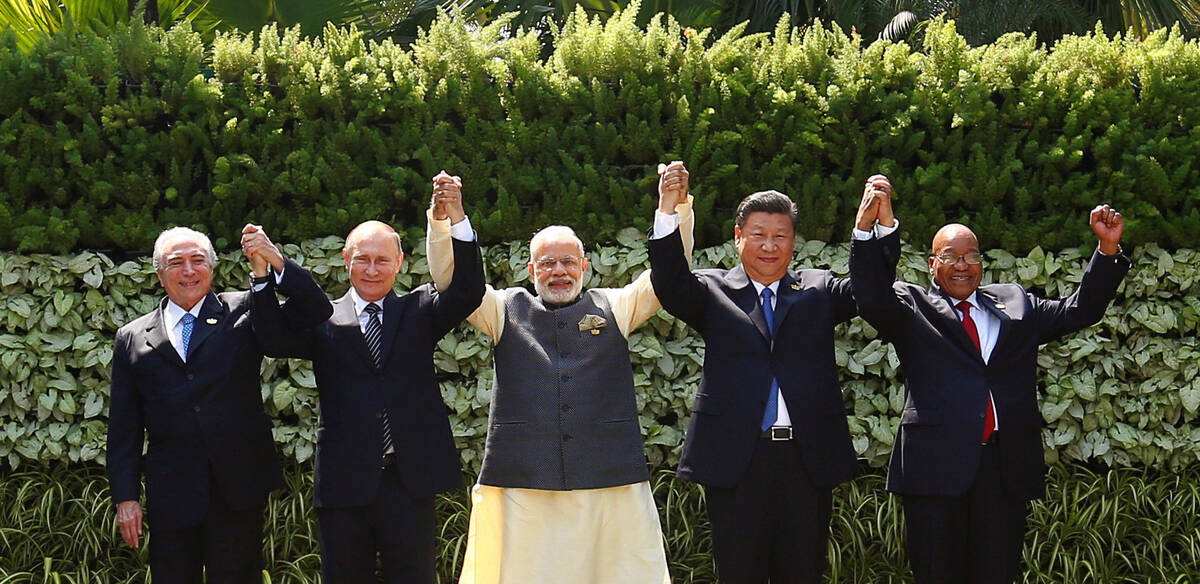 Goa five hands 2016 10 16T074958Z 323345988 S1BEUHGNTEAB RTRMADP 3 INDIA BRICS