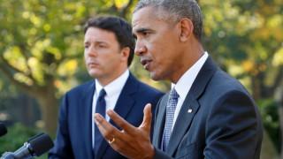 Ομπάμα και Ρέντσι συμφωνούν ότι πρέπει να δοθεί έμφαση στην οικονομική ανάπτυξη