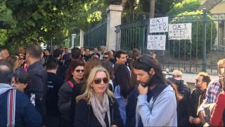 Νέα διαμαρτυρία εργαζομένων των ιδιωτικών τηλεοπτικών σταθμών στη Βουλή