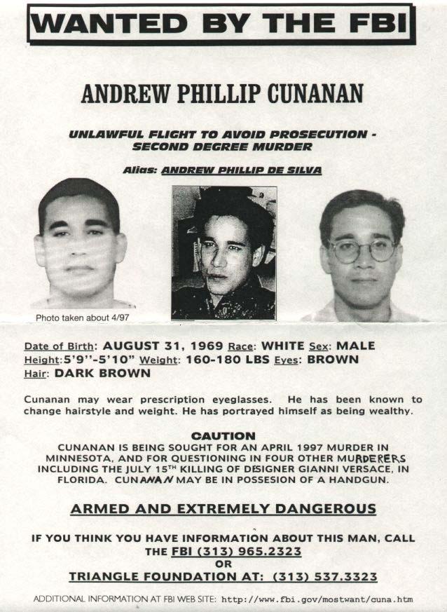 Wanted Andrew Cunanan