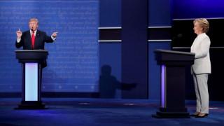 Εκλογές ΗΠΑ 2016: Περίπου 64 εκατομμύρια τηλεθεατές παρακολούθησαν το debate Κλίντον-Τραμπ