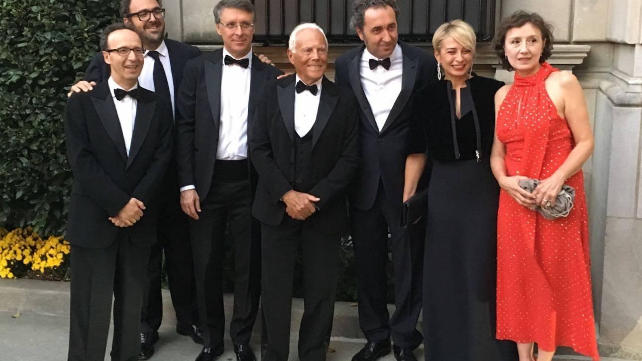 Τζόρτζιο Αρμάνι, Μπέμπε Βίο και όλοι οι άνθρωποι του Ρέντσι στην ιταλική γιορτή των Ομπάμα