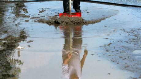 Καταστροφές στην Άρτα από τη δυνατή νεροποντή