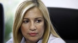 Η Φώφη Γεννηματά καταδικάζει τα «υπονοούμενα» του Ερντογάν