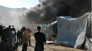 Μυτιλήνη: Σοβαρές ζημιές από την εξέγερση των προσφύγων στη Μόρια