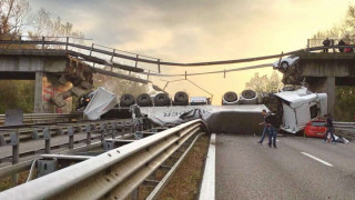 Κατέρρευσε γέφυρα στο Κόμο της Ιταλίας-Ένας νεκρός και τέσσερις τραυματίες (pics)