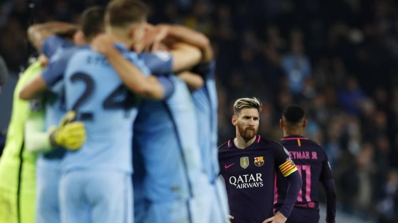 Champions League: Επεισόδιο του Μέσι με παίκτη της Σίτυ στη φυσούνα