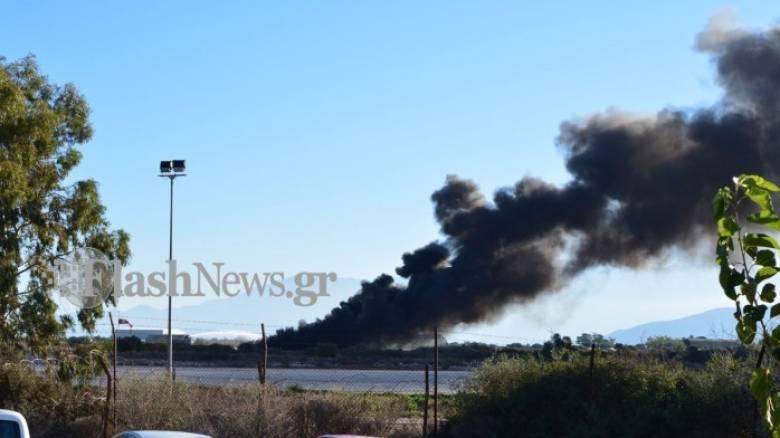 Φωτιά σε F-16 στα Χανιά - τραυματίας ο πιλότος