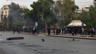 Επεισόδια με μολότοφ μετά το μαθητικό συλλαλητήριο στο κέντρο της Αθήνας