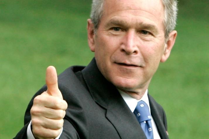Bush thumbs up GETTY 714x476