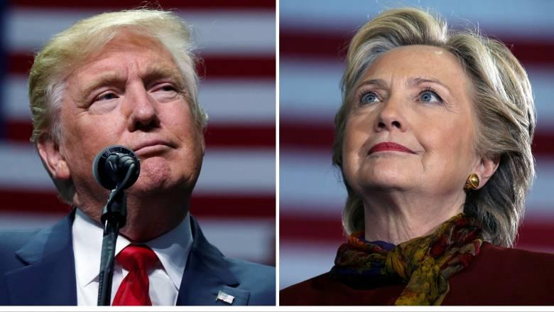 Αμερικανικές εκλογές 2016 αποτελέσματα: Μάχη Κλίντον - Τραμπ σε κρίσιμες πολιτείες