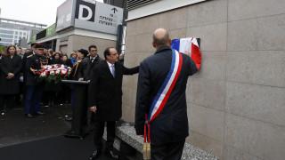 Επιθέσεις Παρίσι: Ο Φρ. Ολάντ στο σημείο της έκρηξης έξω από το Σταντ ντε Φρανς (pics)