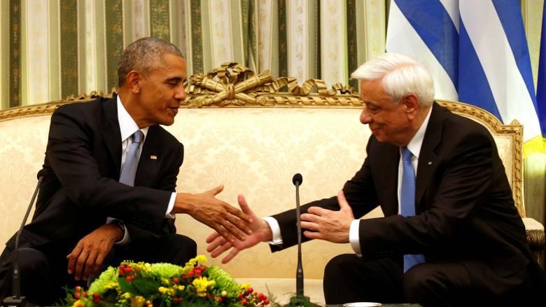 Επίσκεψη Ομπάμα: Οικονομία, Κυπριακό, ΝΑΤΟ και συνθήκη της Λωζάνης στη συνάντηση με Πρ. Παυλόπουλο