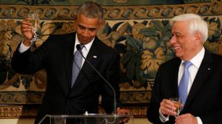 Επίσκεψη Ομπάμα: το επίσημο δείπνο προς τιμήν του Αμερικανού Προέδρου