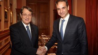 Συνάντηση Κυρ. Μητσοτάκη με τον Ν. Αναστασιάδη για το Κυπριακό
