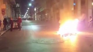 Πετροπόλεμος και φωτιές στην Πάτρα μετά το τέλος της πορείας για το Πολυτεχνείο