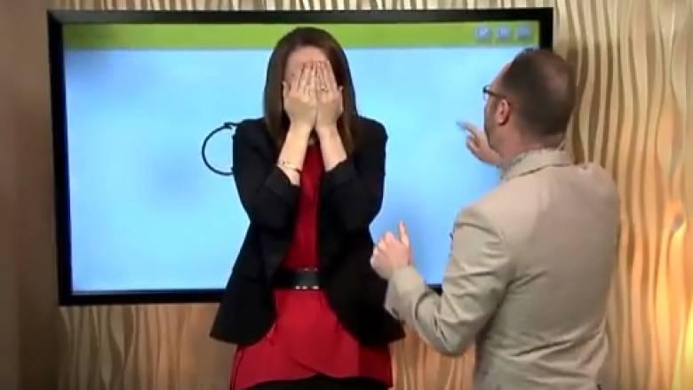 Τι μπορεί να πάει στραβά όταν ένας παρουσιαστής ζωγραφίζει live στην τηλεόραση; (vid)