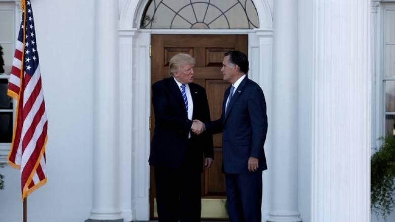 Ο Ντόναλντ Τραμπ συναντήθηκε με τον Μιτ Ρόμνεϊ