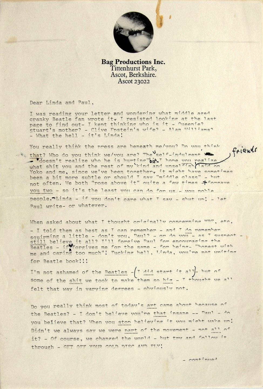 john lennon paul mccartney letter 01