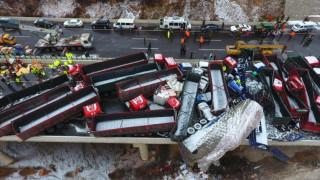 Κίνα: Τρομακτική καραμπόλα με 17 νεκρούς